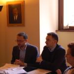 Conferenza stampa TerniPoesia  Simone Guerra, Assessore alla Cultura e alla politiche giovanili del Comune di Terni, Diego Vitali, Vice-presidente Gutenberg e Rosanna Gentili Carini, membro del Consiglio direttivo.